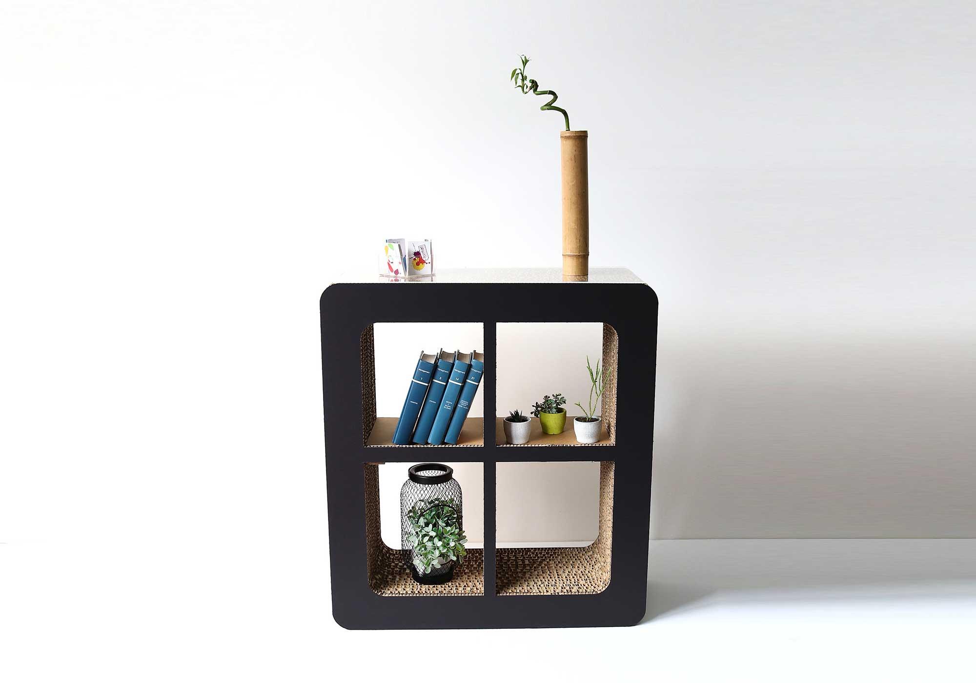 Libreria in cartone illuminata - Kattuni arredi in cartone