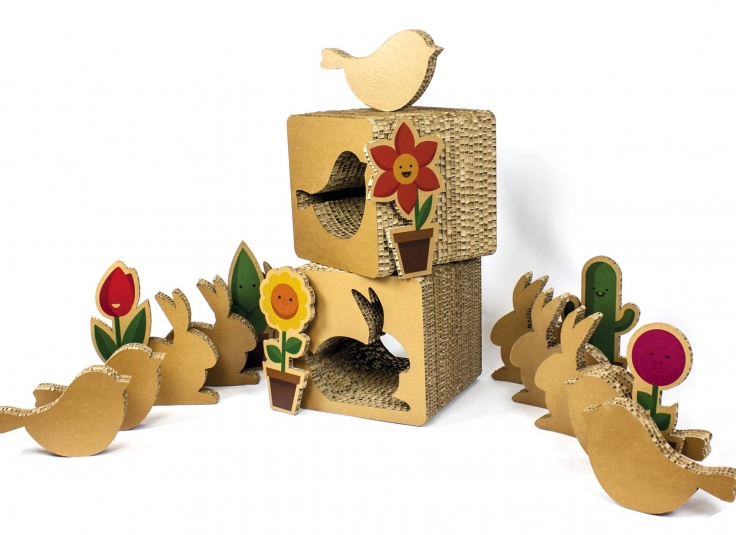 Shapes and stools in honeycomb cardboard kattuni cardboard furnitures